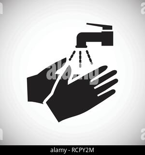 Safety hand washing icon on white background for graphic and web design, Modern simple vector sign. Internet concept. Trendy symbol for website design web button or mobile. - Stock Photo