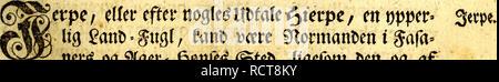 . Det første forsøg paa Norges naturlige historie : førestillende dette kongeriges luft, grund, fielde, vande, vaexter, metaller, mineralier, steen-arter, dyr, fugle, fiske og omsider indbyggernes naturel, samt saedvaner og levemaade. Natural history; Botany. mm (o) mm 129 Set jtofte Eapitel gottfetteife om gugletm §. 1. ^erpÂ«/ Smfce, Softtgl, Sviff. 2. ^tdD, ^iesmeife, i?tage, itraméfugl, Mtyftk, grtttgføie, fia^^itÂ«, Serfe, £om/CuiiE). 3. Â«S?aagÂ«, afcjfiflige fortet, SBué&tt, IftatDafÂ«, 9to>t>umti& $Mbe, 9tøt>t>e* ©fliget, Ãrn, 4. Støctge, 9tøtn, Slegnfpo - Stock Photo
