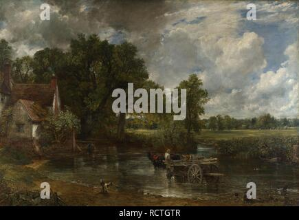 The Hay Wain. Museum: National Gallery, London. Author: CONSTABLE, JOHN. - Stock Photo