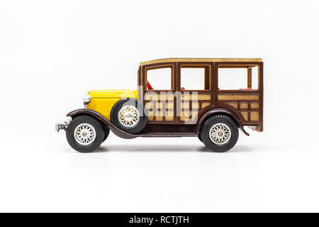 Matchbox Models of Yesteryear Y-21 Ford Model A Woody Wagon 1930. - Stock Photo