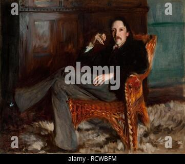 Portrait of Robert Louis Stevenson (1850-1894). Museum: CINCINNATI ART MUSEUM. Author: SARGENT, JOHN SINGER. - Stock Photo