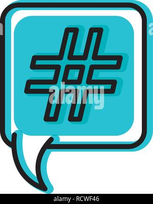 speech bubble with numeral isolated icon - Stock Photo
