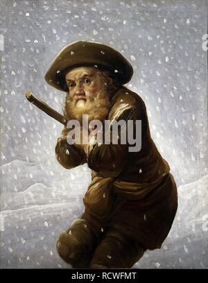 Allegory of Winter. Museum: PRIVATE COLLECTION. Author: ANTONIO CIFRONDI. - Stock Photo