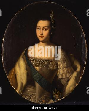 Portrait of Princess Anna Leopoldovna (1718-1746), tsar's Ivan VI mother. Museum: State History Museum, Moscow. Author: ANONYMOUS. - Stock Photo
