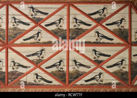 The Magpie Room, Sintra National Palace, Sintra, Unesco World Heritage Site, Lisbon, Portugal, Europe - Stock Photo