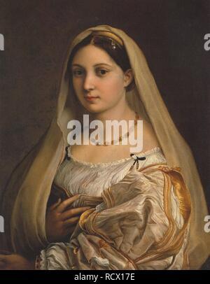 La donna velata (The woman with the veil). Museum: Palazzo Pitti, Florence. Author: Raphael (Raffaello Sanzio da Urbino). - Stock Photo