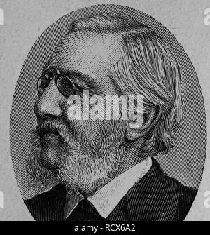 Carl Stremayr, 1823 - 1904, member of the Frankfurt Parliament, wood engraving, about 1880 - Stock Photo