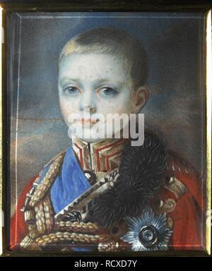 Portrait of the Crown prince Alexander Nikolayevich (1818-1881). Museum: Podstanitsky collection. Author: HAMPELN, CARL VON. - Stock Photo