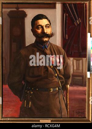 Portrait of Semyon Mikhailovich Budyonny (1883-1973). Museum: State Central Military Museum, Moscow. Author: Brodsky, Isaak Izrailevich. - Stock Photo