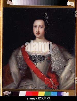 Portrait of Princess Anna Leopoldovna (1718-1746), tsar's Ivan VI mother. Museum: State V. Tropinin-Museum, Moscow. Author: CARAVAQUE, LOUIS. - Stock Photo