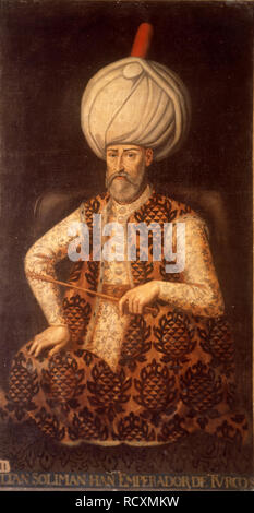 Sultan Suleiman I the Magnificent. Museum: Palacio del Senado de España, Madrid. Author: ANONYMOUS. - Stock Photo
