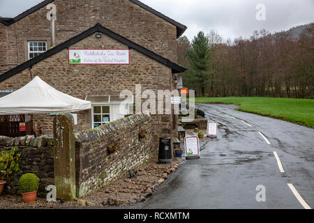 Puddleducks tea room and Post office in the Village of Dunsop Bridge, quoted as the geographic centre of the united kingdom,Forest of Bowland,England - Stock Photo