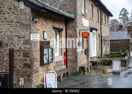 Puddleducks tea room and Post office in the Villahe of Dunsoop Bridge, quoted as the geographic centre of the united kingdom,Forest of Bowland,England - Stock Photo