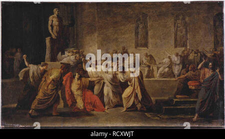 The Death of Julius Caesar. Museum: Museo d'Arte Moderna, Bologna. Author: CAMUCCINI, VINCENZO. - Stock Photo