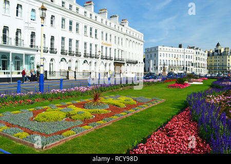Carpet gardens on Eastbourne seafront, East Sussex, UK - Stock Photo