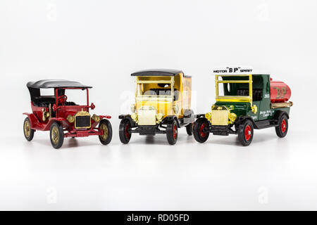 Matchbox Models of Yesteryear Ford Model T variations - Stock Photo