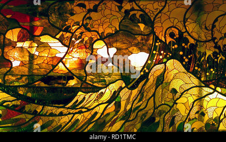 Stained glass window, Rue Frochot, Pigalle, Paris - Stock Photo