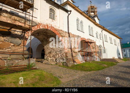 In the Spaso-Preobrazhensky Solovetsky Monastery. Russia, Arkhangelsk region, Primorsky district, Solovki - Stock Photo