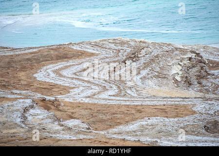 Dead sea coastline, Jordan Stock Photo