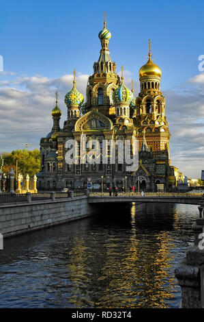 Saint-Petersburg, Russia - May 14, 2006: Church of the Savior on spilled blood - Stock Photo