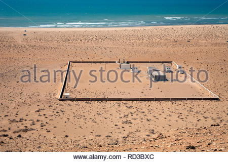 Beach along the Western Sahara coast - Stock Photo