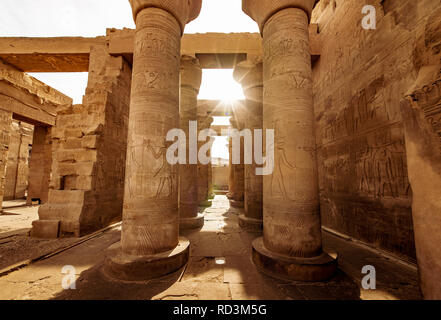 Temple of Kom Ombo dedicated to God Sobek in upper Egypt built in the times of the Ptolemy Dynasty - Stock Photo