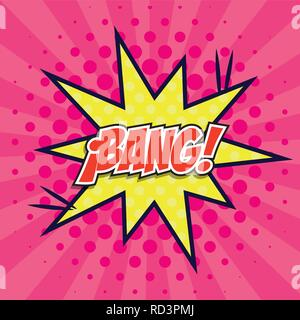 explosive comic with bang word pop art style vector illustration design - Stock Photo