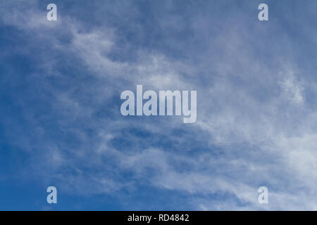 Many small clouds completely cover the sky. Soft clouds - Stock Photo