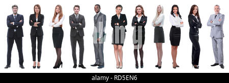 Large group of business people. Isolated over white. - Stock Photo