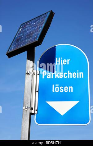 Parking meter, powered by solar energy - Stock Photo
