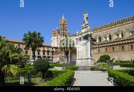 Cathedral in Palermo, Sicily, Italy, Europe - Stock Photo