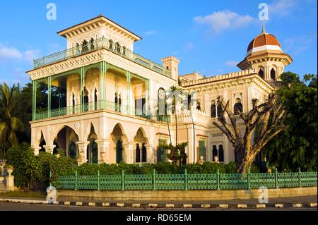 Moorish palast Palacio de Valle, Cienfuegos, Unesco World Heritage Site, Cuba - Stock Photo