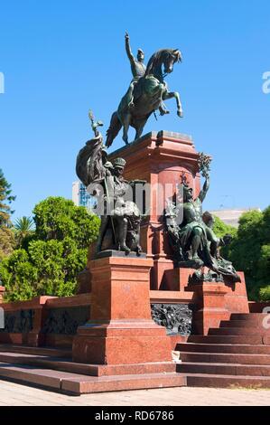 Plaza San Martin, General San Martin monument, Buenos Aires, Argentina, South America - Stock Photo