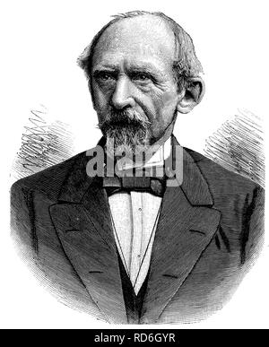 Lothar Bucher, 1817 - 1892, politician, publicist and close aide of Bismarck, historical illustration circa 1893 - Stock Photo