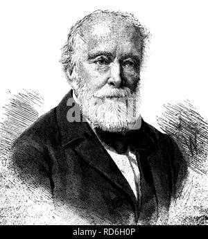Lajos Kossuth de Udvard et Kossuthfalva, 1802 - 1894, politician and important Hungarian freedom fighter, historical - Stock Photo