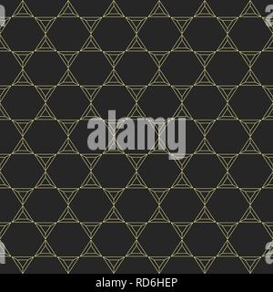 Abstract seamless pattern made from linear triangles. Contemporary graphic design. Vector background. - Stock Photo