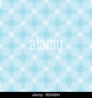 Geometric abstract seamless pattern. Repeating background with intersecting circles for your design. Eps 10 file with transparency. - Stock Photo