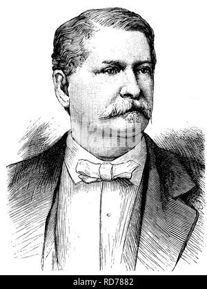 Winfield Scott Hancock, 1824-1886, Major-General of the U.S. Army, Democratic candidate for the US Presidential elections - Stock Photo