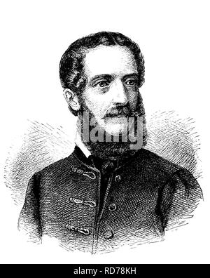 Louis Kossuth, 1802 - 1894, Hungarian national hero, historical woodcut, circa 1880 - Stock Photo