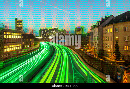 Symbolic picture, Critical infrastructures, which are institutions that have an important meaning for the public and the function of the society, they - Stock Photo