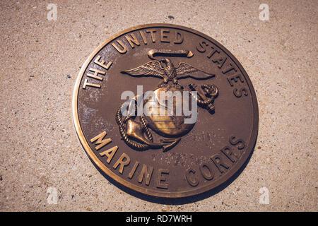 Bronze plaque of The Marine Corps Seal