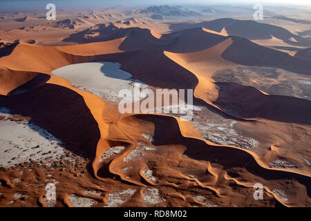 Aerial View of Deadvlei - Namib-Naukluft National Park, Namibia, Africa - Stock Photo