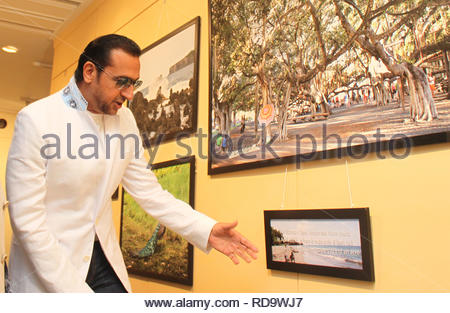 Bollywood actor Gulshan Grover at the inauguration of Homeopath Dr Mukesh Batra's (not in picture) 8th annual charity photgraphy exhibition in Mumbai, India on September 13, 2012. (SOLARIS IMAGES) - Stock Photo