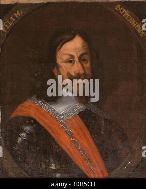 Portrait of Count Gottfried Heinrich of Pappenheim (1594-1632). Museum: Nationalmuseum Stockholm. Author: ANONYMOUS. - Stock Photo
