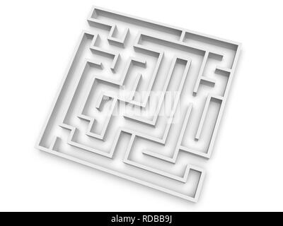Empty maze - Stock Photo