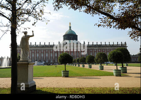 16.09.2014, Potsdam, Brandenburg, Germany, Europe - View of the New Palace in Sanssouci Park. - Stock Photo