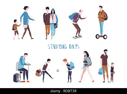 Students activity and school kids leisure. - Stock Photo