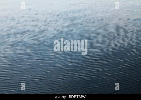 Close up surface of water and waves in the baltic sea and lake with sparkling sunlight reflections - Stock Photo