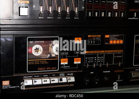 Cassette deck - Stock Photo