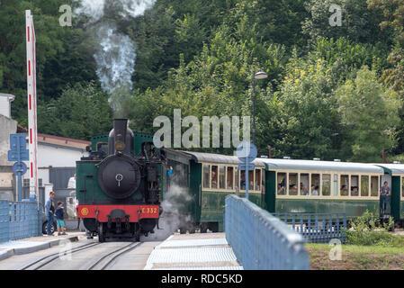 The chemin de fer or steam train of the Baie de la Somme - Stock Photo
